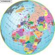 球体圆形世界地图
