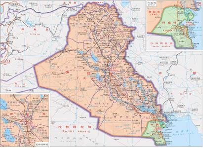 科威特地图_科威特地图中文版_高清_下载-世界地图